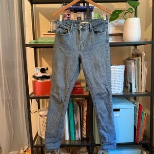 Stone-Wash Mom Jeans